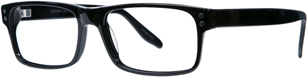 Prescription Safety Glasses - ArmouRx Metro Collection 7001 (Black) - side view