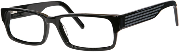 Prescription Safety Glasses - ArmouRx Metro Collection 7002 (Black) - side view
