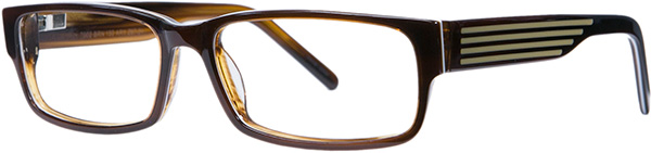 Prescription Safety Glasses - ArmouRx Metro Collection 7002 (Brown) - side view