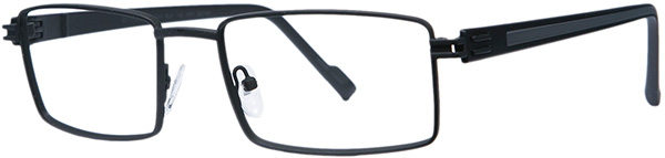 Prescription Safety Glasses - ArmouRx Metro Collection 7003 (Black) - side view
