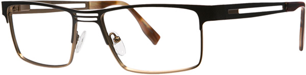 Prescription Safety Glasses - ArmouRx Titanium Collection 8001 (Brown) - side view