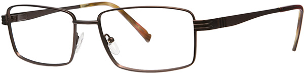 Prescription Safety Glasses - ArmouRx Titanium Collection 8002 (Brown) - side view