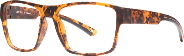 Prescription Safety Glasses - HiDX A001 (Brown Leopard) - side view