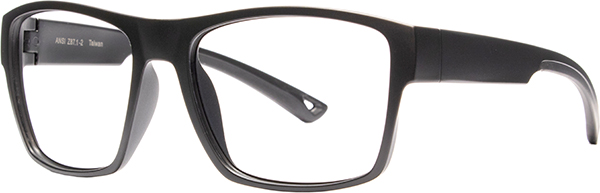 Prescription Safety Glasses - HiDX A001 (Matte Black) - side view