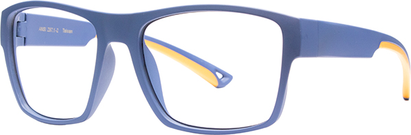 Prescription Safety Glasses - HiDX A001 (Midnight_Blue/Orange) - side view