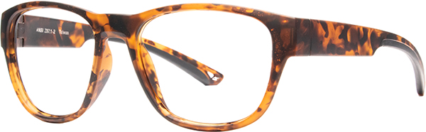 Prescription Safety Glasses - HiDX A002 (Brown Leopard) - side view