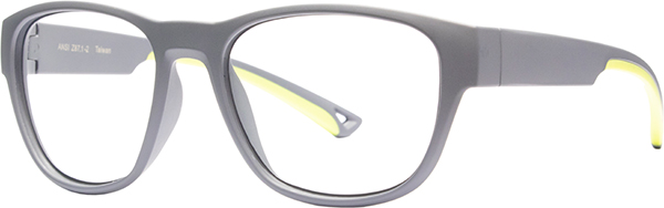 Prescription Safety Glasses - HiDX A002 (Grey/Green) - side view