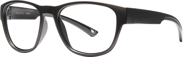 Prescription Safety Glasses - HiDX A002 (Matte Black) - side view