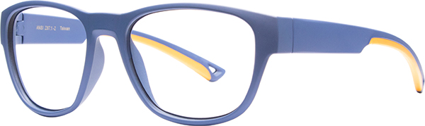Prescription Safety Glasses - HiDX A002 (Midnight_Blue/Orange) - side view