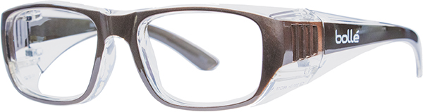 Prescription Safety Glasses - Bollé B808 (LG) (Gunmetal) - side view