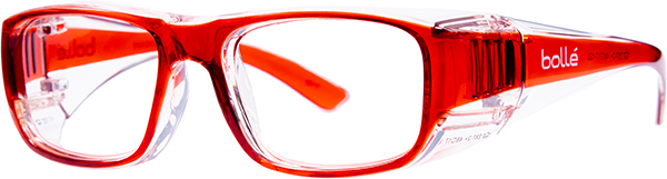 Prescription Safety Glasses - Bollé B808 (LG) (Red) - side view