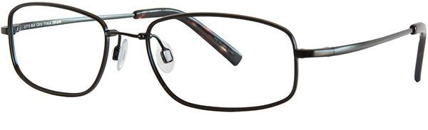 Prescription Safety Glasses - UVEX Titanium Collection EXT13 (Black) - side view