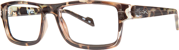 Prescription Safety Glasses - WileyX Worksight™ Series Epic (Gloss Black Demi) - side view