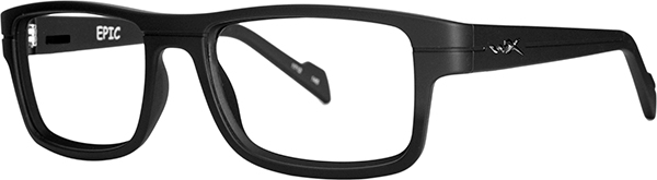 Prescription Safety Glasses - WileyX Worksight™ Series Epic (Matte Black) - side view