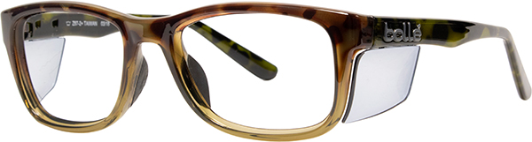 Prescription Safety Glasses - Bollé Kick (Tortoise) - side view