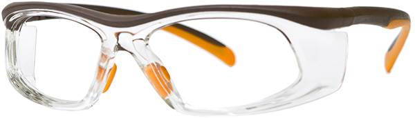 Prescription Safety Glasses - UVEX SWRX Collection SW06 (Brown/Orange) - side view