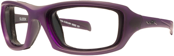 Prescription Safety Glasses - WileyX Climate Control Series Sleek (Matte Violet) - side view