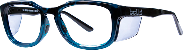 Prescription Safety Glasses - Bollé Spicy (Shiny Black Green) - side view