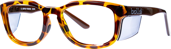 Prescription Safety Glasses - Bollé Spicy (Shiny Light Tortoise) - side view