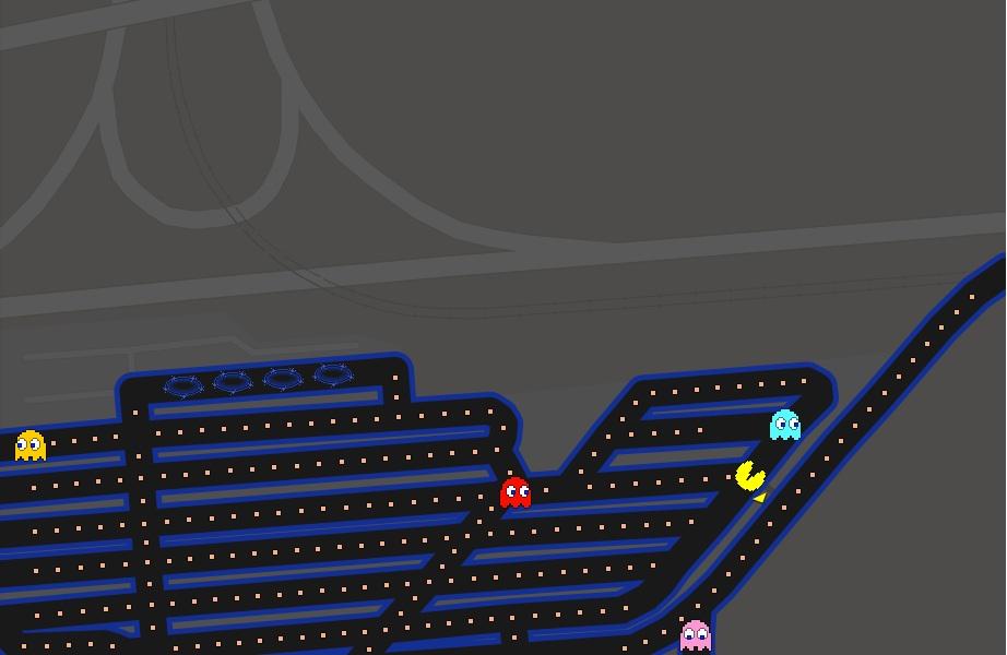 Pac-Man à Roissy