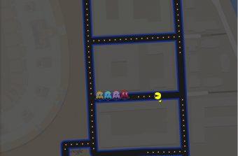 Pac-Man croque sur la banlieue