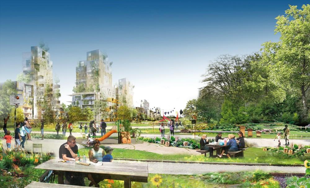 Projet de Central Park à la Courneuve