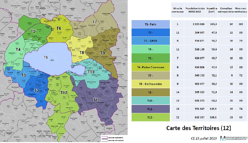 carte des territoires de la MGP
