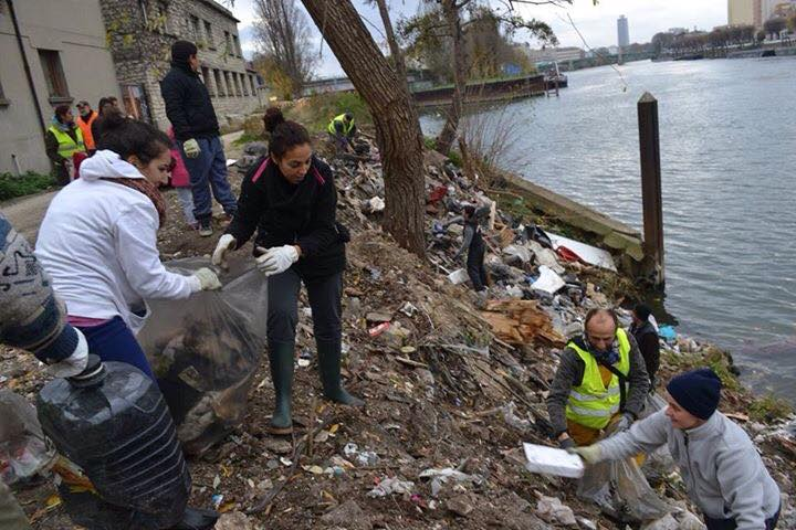 Nettoyage des berges de la Seine à St-Denis