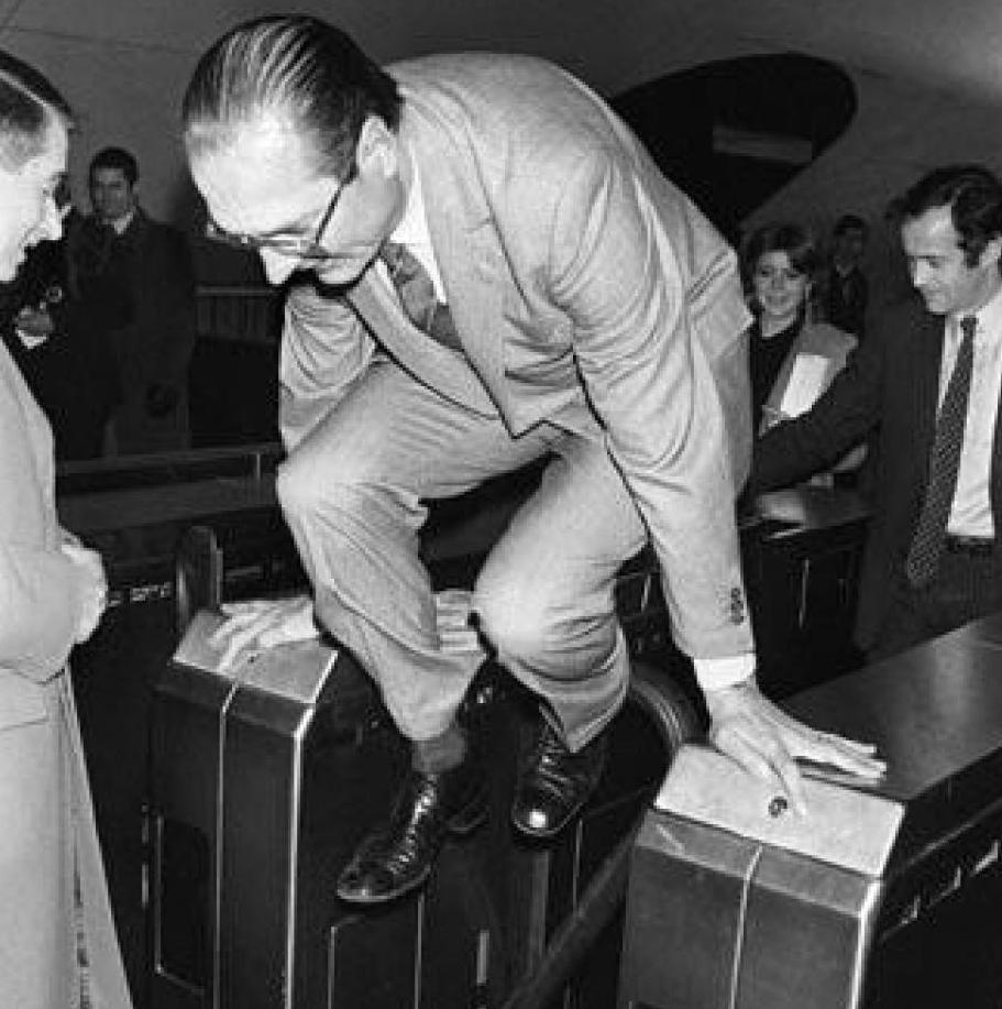 Jacques Chirac dans le métro / DR