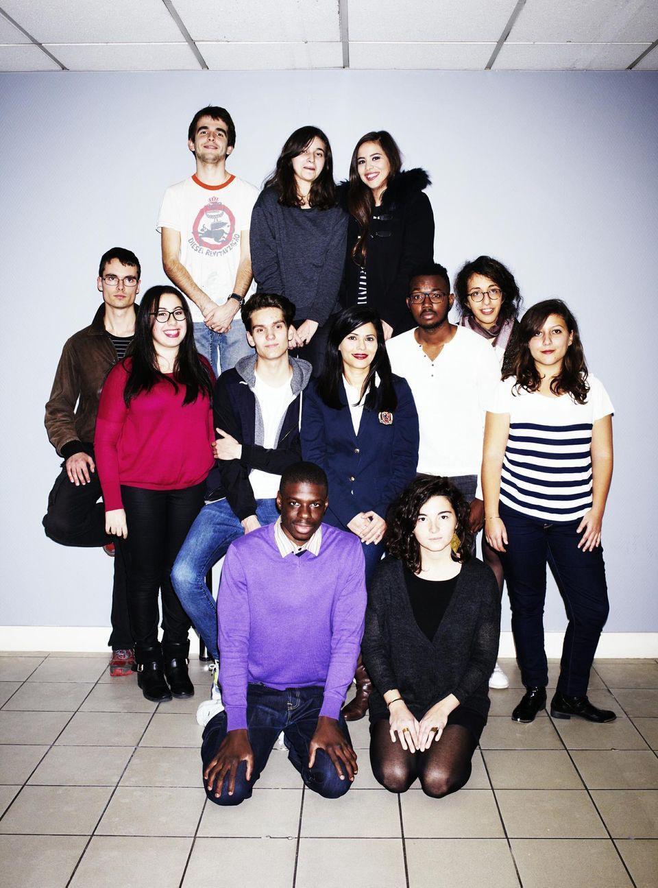 Une partie de l'équipe du Bondy Blog en 2015 / DR