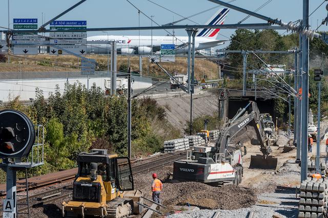 Travaux de modernisation sur les voies du RER B à proximité de l'aéroport de Roissy - Charles de Gaulle / © Sylvain Cambon