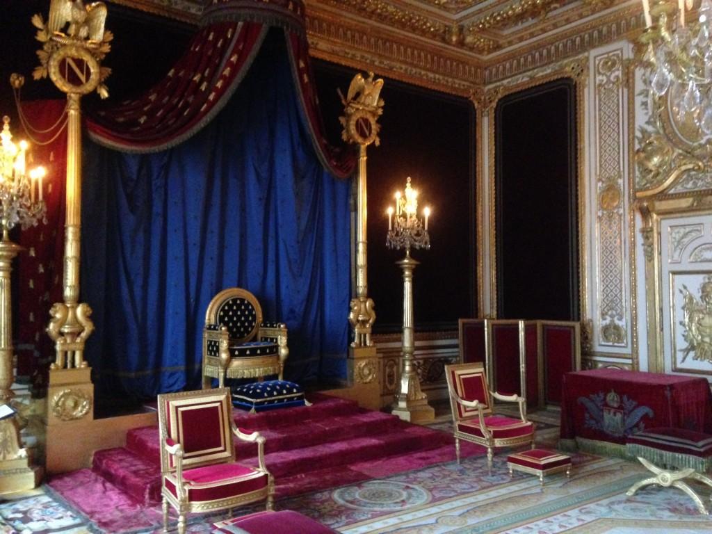 Salle du trône au château de Fontainebleau / © Steve Stillman
