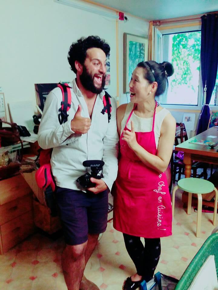 Wael Sghaier avec Mme Lee à Montreuil / DR