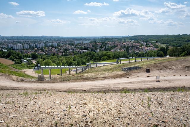 Le futur parc du Sempin à Chelles aménagé à partir des déblais du chantier du métro du Grand Paris Express / © Société du Grand Paris - AC Barbier
