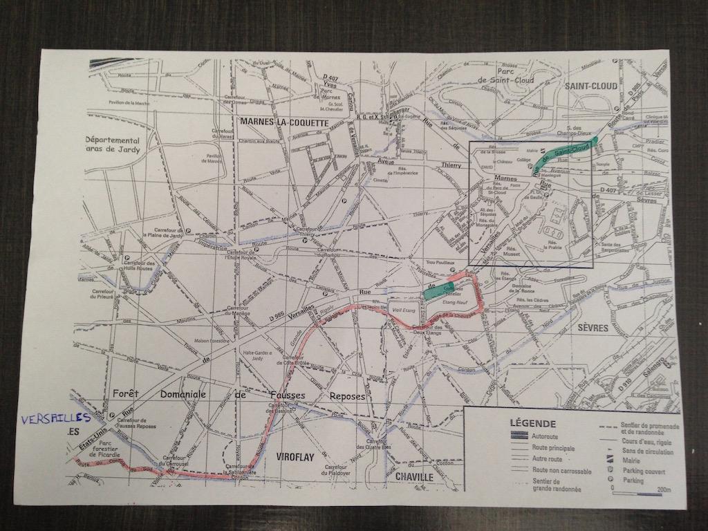 Itinéraire Versailles - Etangs de Corot via la forêt de Fausses Reposes / DR