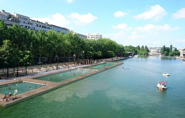 L'espace de baignade du bassin de la Villette /  © Cabinet d'architecte Patrick Charoin - Marina Donda