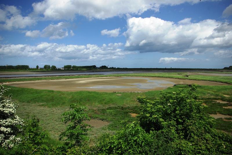 Estuaire de l'Orne entre Merville et Franceville / DR