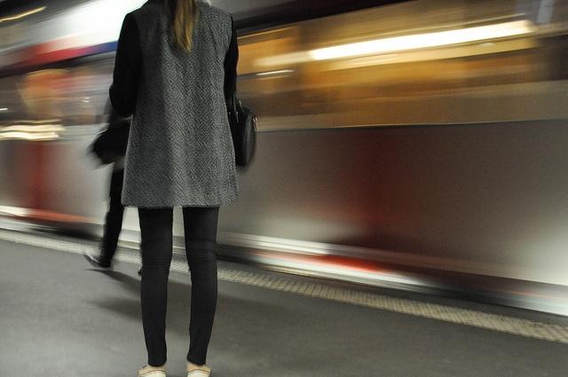 En attendant le RER / © Sylvain Naudin