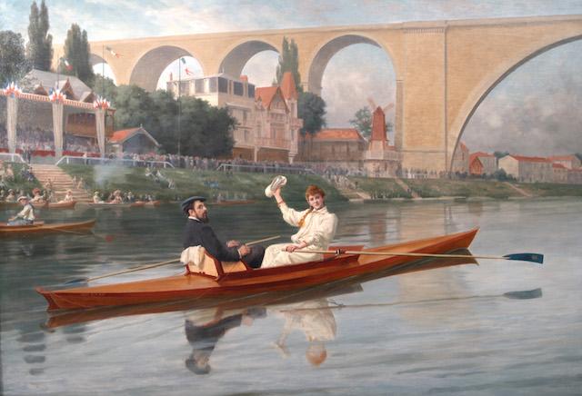 En barque sur la Marne, Paul Feval / DR