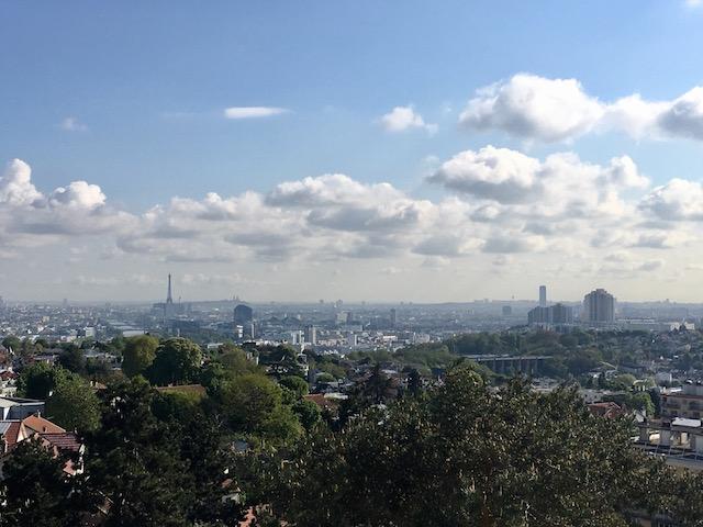 Vue sur Paris depuis le parc de l'Observatoire de Meudon /  © Julie Gourhant