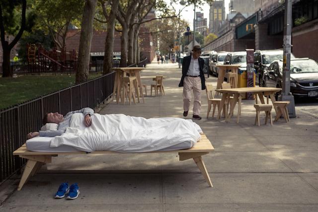 Le duo Boijeot Renauld dans les rues de New York / Crédit : Clément Martin