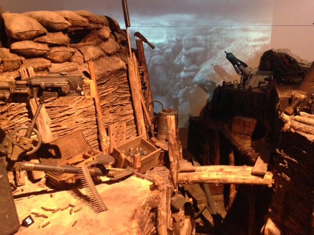 Reconstitution d'une tranchée française au musée de la Grande Guerre de Meaux / © Steve Stillman