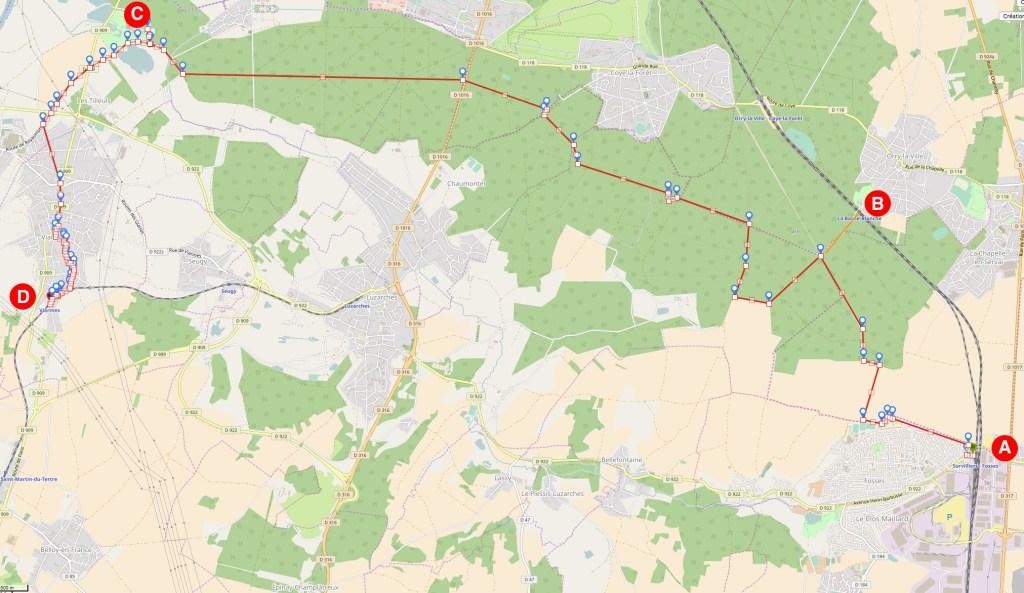 L'abbaye de Royaumont par la forêt