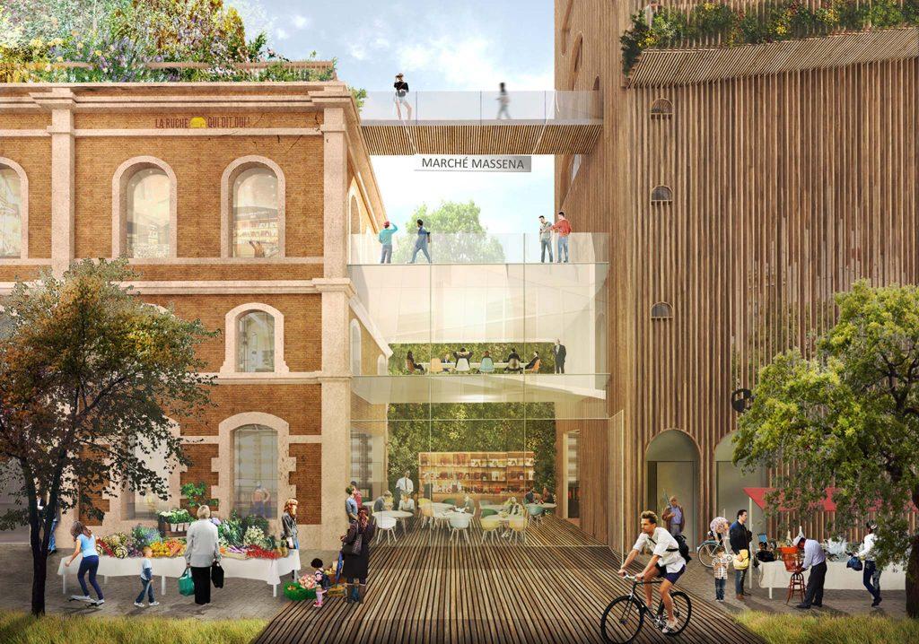 Projet Ré-alimenter Masséna dans l'ancienne gare Masséna (Paris 13e) / DR
