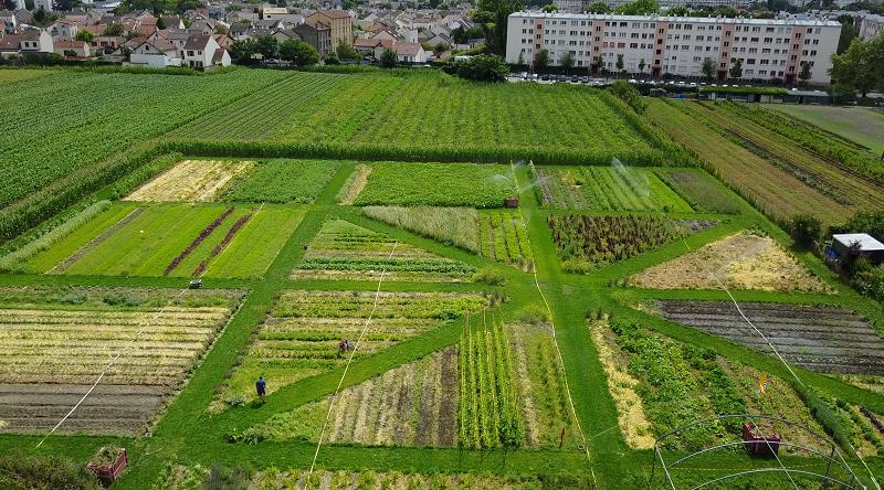 Vue aérienne de la Ferme urbaine de Saint-Denis / © Parti poétique