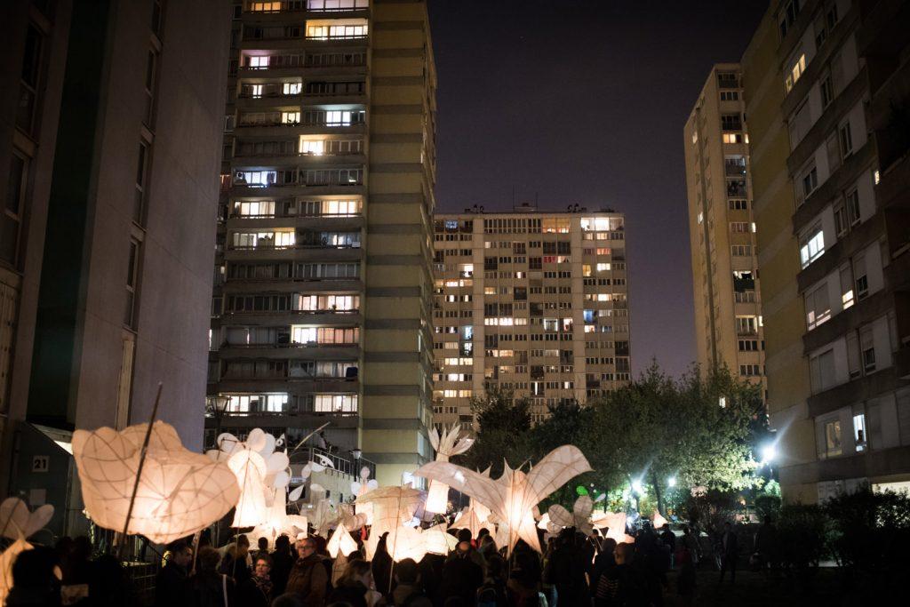 """""""Les Lanternes, lumière sur la ville"""", édition 2016 à Aubervilliers / © Stéphane Ouradou"""