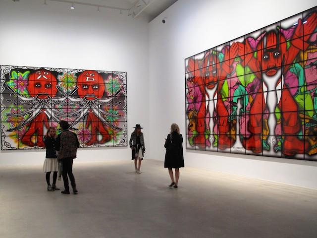 Exposition de Gilbert et George à la galerie Ropac à Pantin / © Mona Prudhomme pour Enlarge your Paris