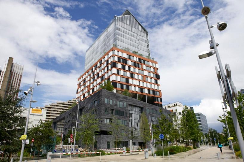 Immeuble dessiné par Jean Nouvel au coeur du quartier du Trapèze à Boulogne-Billancourt (92) / DR
