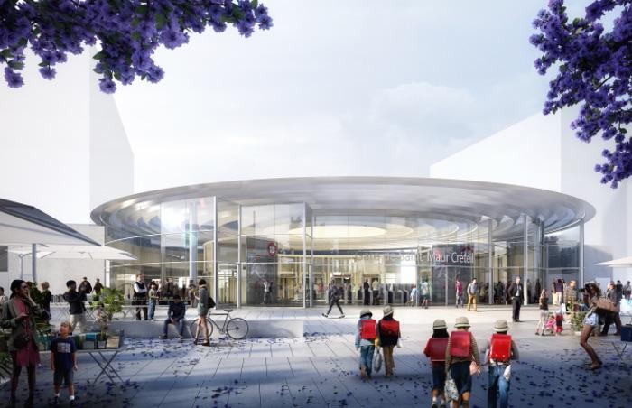 Gare Saint-Maur Créteil / © Société du Grand Paris - Agence ANMA