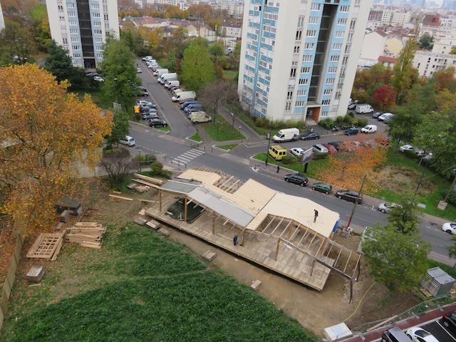 La nouvelle ferme R-Urban en construction à Gennevilliers / © aaa